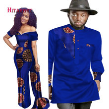 2018 New Designs Couple for Lovers Mrs Men Shirt African Print Clothes Clothing Dress + Mens 6XL WYQ74