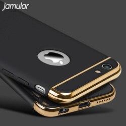 Étui rigide jamulaire pour iphone 7 6 6 S 5 S SE X 10 8 Plus couverture arrière amovible Fundas étui pour iphone 6 6 s 7 Plus