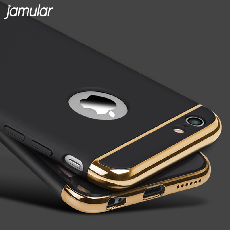 JAMULAR Hard Case For iphone 7 6 6S 5S SE X 10 8 Plus Back Cover Coverage Removable Fundas Case For iphone 6 6s 7 Plus Case Bag