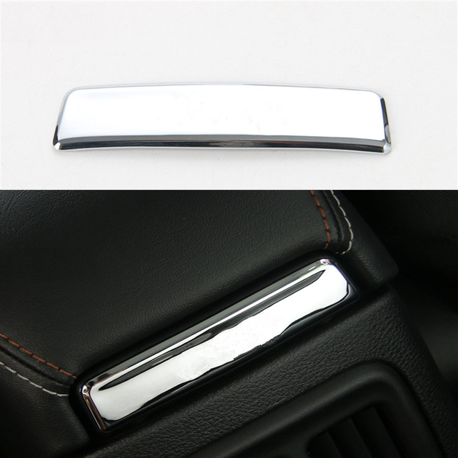 YAQUICKA Car-Styling 1PCS ABS Interior Auto Seat Armrest Box Back Decorative Sequin Frame Cover Trim For Jeep Compass 2017+ for infiniti qx50 plastic central slot storage box decorative cover trim 1pcs 2 color for choice