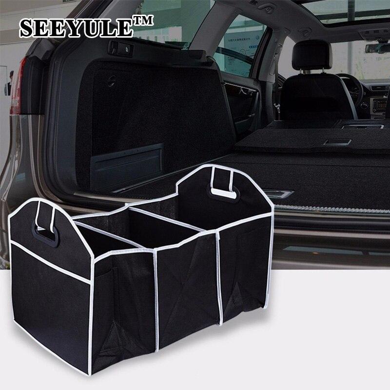 Disney Collapsible Storage Trunk Toy Box Organizer Chest: 1pc SEEYULE Collapsible Black Car Storage Bag Trunk