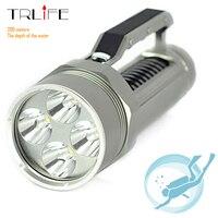 Underwater 200m Diving Tactical Flashlight 4x L L2 8000 Lumen Lantern LED Flashlight Torch Scuba Diving Light