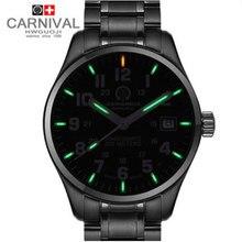 2016 tritio luminoso militar reloj para hombre impermeable 200 m buceo de lujo caliente de cuarzo marca deportiva relojes de acero lleno de cuero genuino