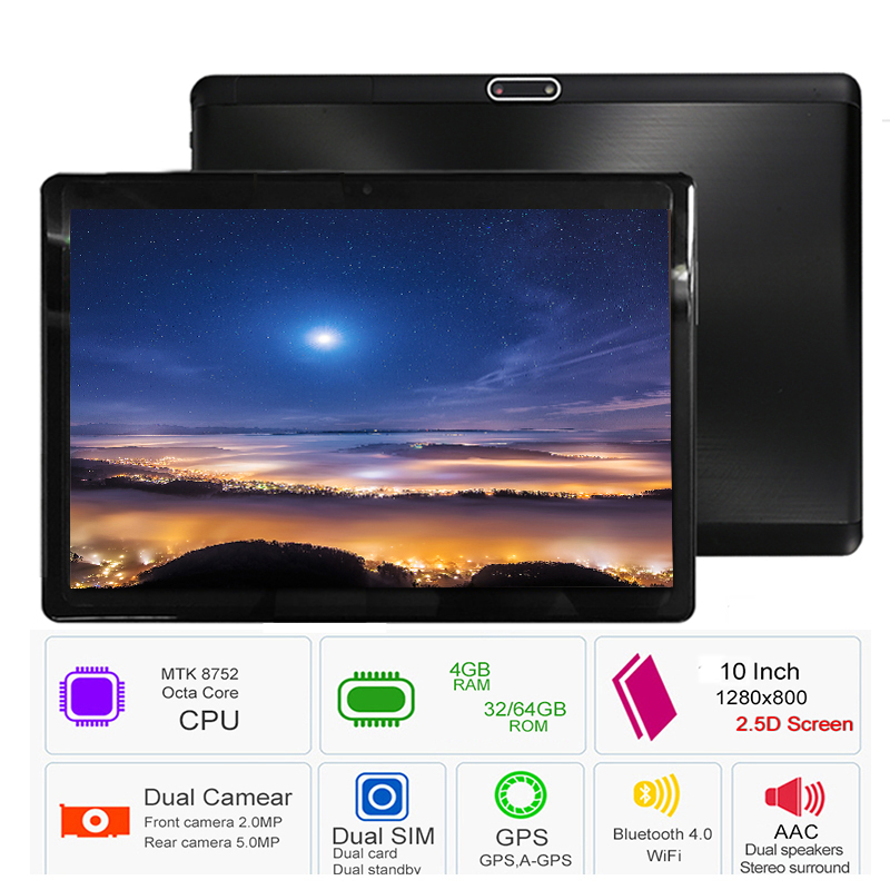 Free shipping 2019 S119 10.1' Tablets Android 8.0 Octa Core 32GB 64GB ROM Dual Camera 8MP Dual SIM Tablet PC Wifi GPS bluetooth (China)