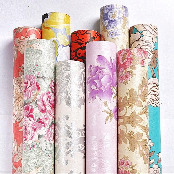 Frais Jardin Floral Décoration Auto-adhésif Papier Peint pour Chambre et Salon Rouleau Taille (0.45 m * 10 m)