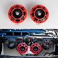 Universal 12 v rojo super fuerte parrilla montaje compacto explosión tono de bocina eléctrica kit universal para coche y moto 1 par = 2 unids