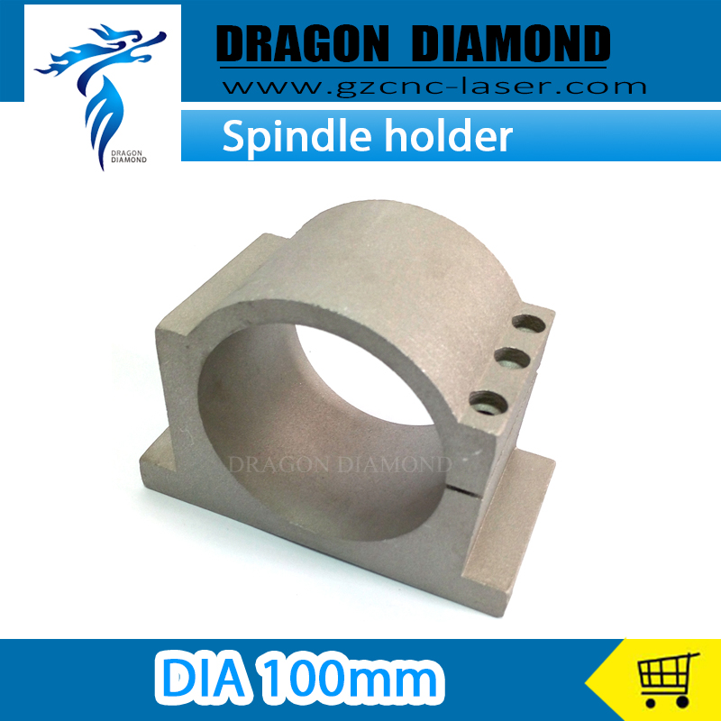Hign quality Spindle Bracket Holder Dia 100mm Spindle Motor Mount On CNC Router Spindle Clamps adjustable three spindle drill heads spindle center distance 32 to 100mm multiple spindle drilling heads multi spindle heads