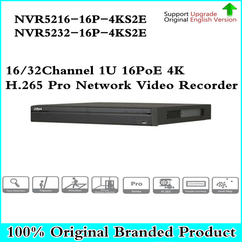 DH Pro NVR5216-16P-4KS2E NVR5232-16P-4KS2E with 16CH PoE Port support Two way Talk e-POE 800M MAX Network Video Recorder