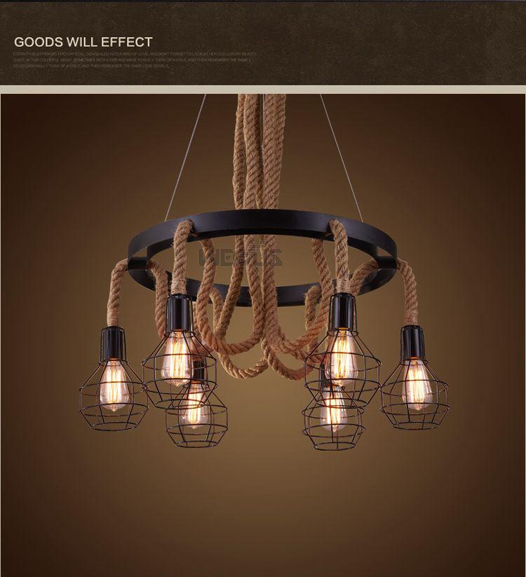 Luminária pendente estilo loft, lâmpada retrô de