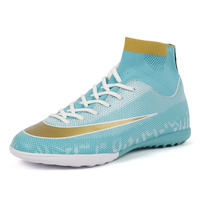 Turf Soccer Cleats Men High Top Football Shoes Professional Soccer Boot Teenagers Indoor Sport Sneakers Teenager