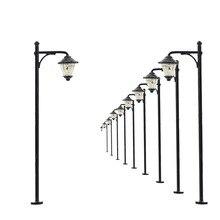10 шт., модель железной дороги, светодиодные лампы, уличный светильник, s N, масштаб 5 см, 12 В, новинка, LYM11, модель, уличный светильник, дворовой светильник, светодиоды