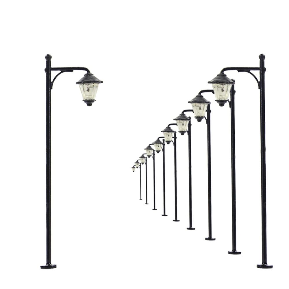 10pcs Model Railway Led Lamppost Lamps Street Lights N