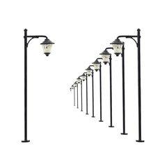Lámparas de farola Led para exteriores, modelo de vía férrea, a escala N, 5cm, 12V, nuevo modelo LYM11, 10 Uds.