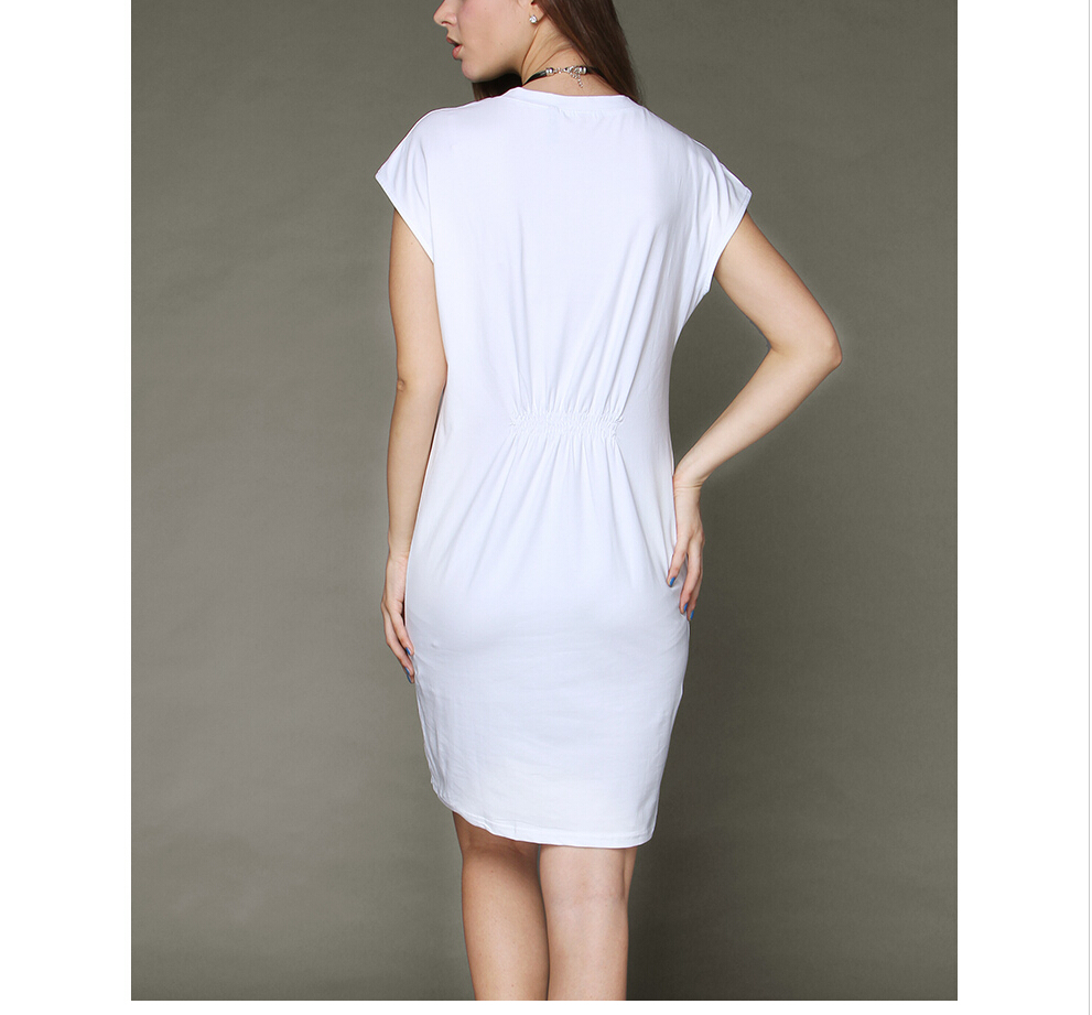 09015defb10 Plus Size White T Shirt Dress Elegant Casual Ladies Celebrity Printed  Vestidos T shirt Geek Top Mini Sexy Dress-in Dresses from Women s Clothing  on ...
