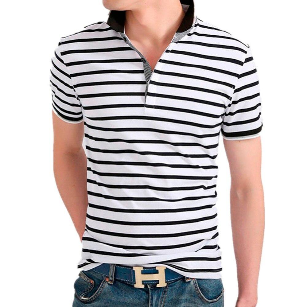 2015 new real camisa solid polo shirt mens fashion cool design short - Liseaven 2017 Men Striped Polo Shirt Solid Tops Tees Shirt Summer Casual Clothing Cool Tee Camisa