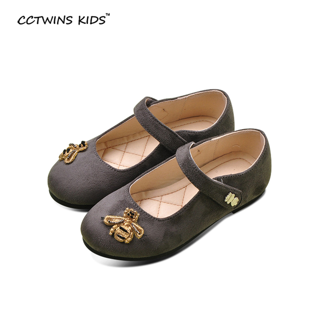 CCTWINS KIDS autumn fashion black dance shoes baby girls brand Mary Jane shoes children pu leather shoes toddler bee shoes flats