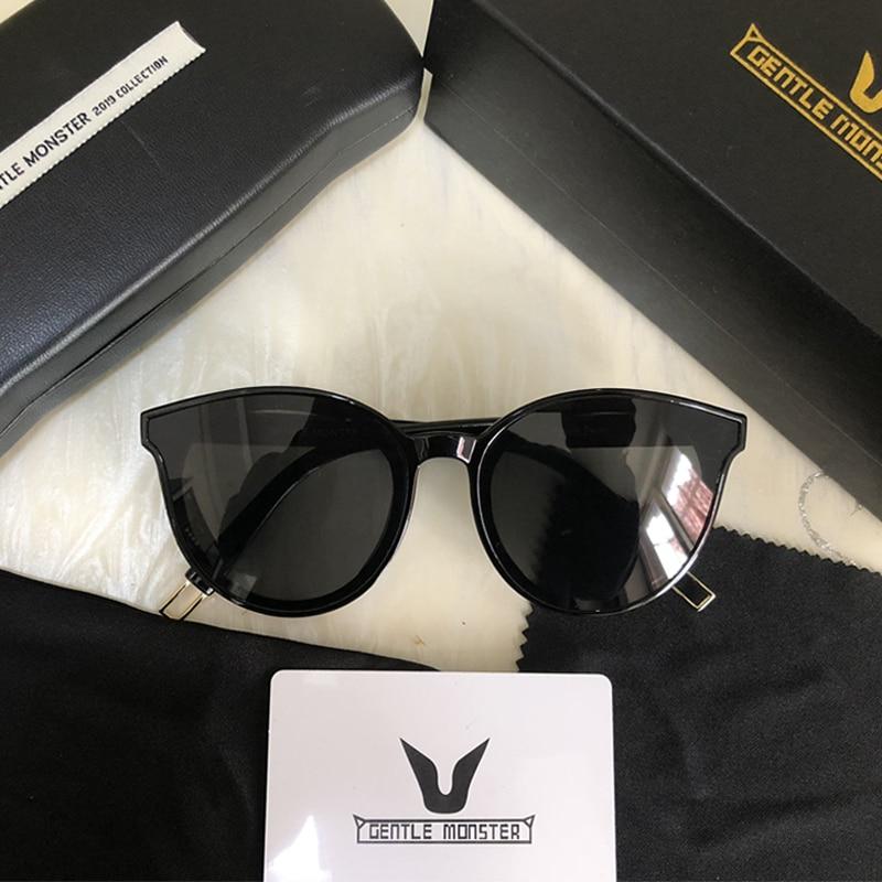 2019 Brand Women Gentle Monster Sunglasses Korean Design Lady Vintage Cat Eye Sun Glasses Retro Sunglass Original Box Package