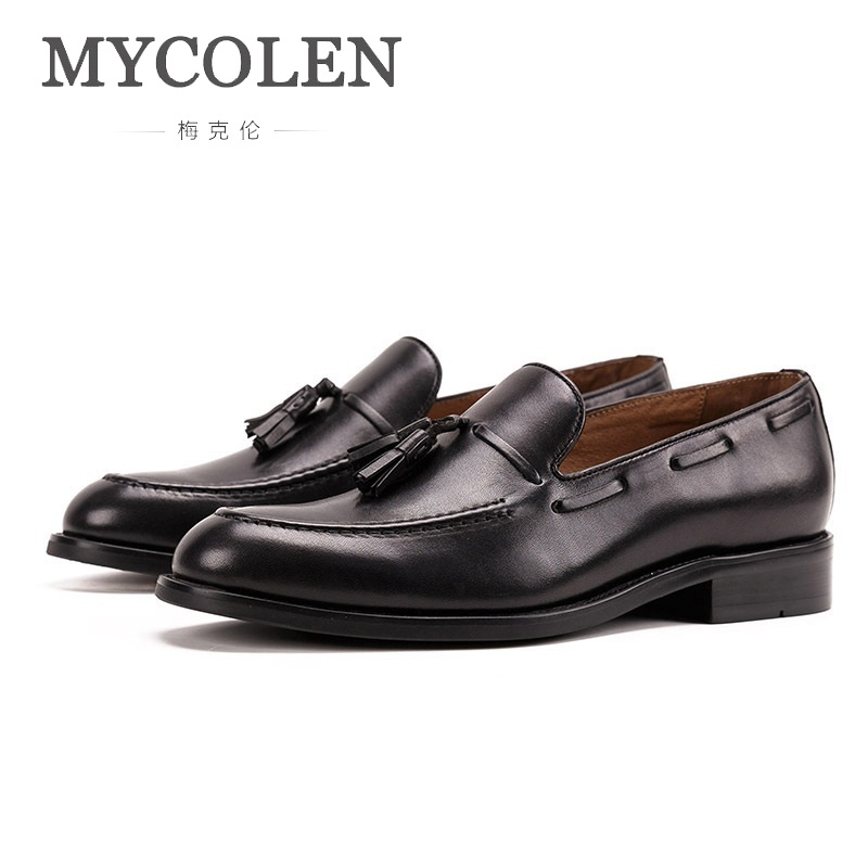 MYCOLEN 2018 Men Leather Loafers Brand Shoes Luxury Designers Classic Footwear Formal Shoes Casual Chaussure Homme SportMYCOLEN 2018 Men Leather Loafers Brand Shoes Luxury Designers Classic Footwear Formal Shoes Casual Chaussure Homme Sport