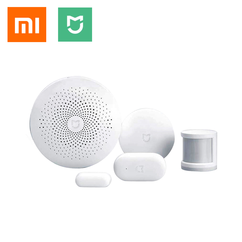 Xiaomi Smart Home Automation Mijia 4 in 1 Kit LED GateWay 2 Zigbee Sensor WiFi Switch interruptor domotique domotica