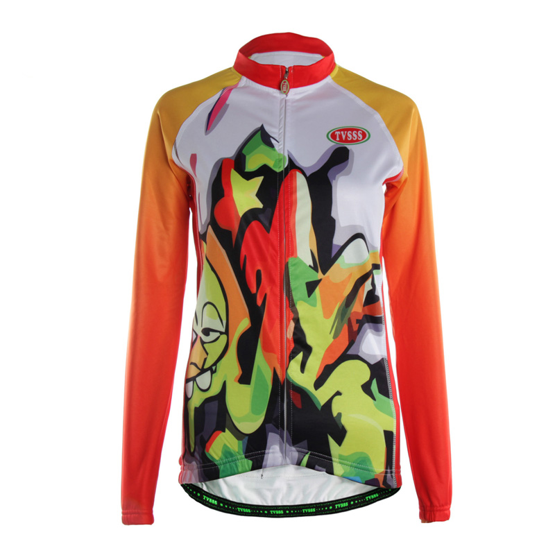 TVSSS Mixed Colors Cycling <font><b>Jersey</b></font> Clothes Long Sleeve Mountain Bike <font><b>Jerseys</b></font> for <font><b>Women</b></font> Color Animation Image Design Ropa Ciclismo