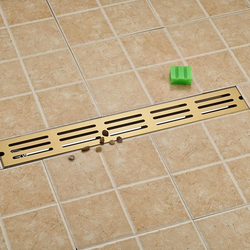 Flower Carved Golden Floor Drain Square Bathroom Shower Grate Waste Drainer bathroom accessory floor drain bathroom oil rubbed black bronze flower 5382 carved drain shower waste drainer art floor drain