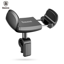 Baseus Car Phone Holder For iPhone 7 6 Support Telephone Voiture 360 Degree Mobile Phone Holder Car Air Vent Mount Holder Stand