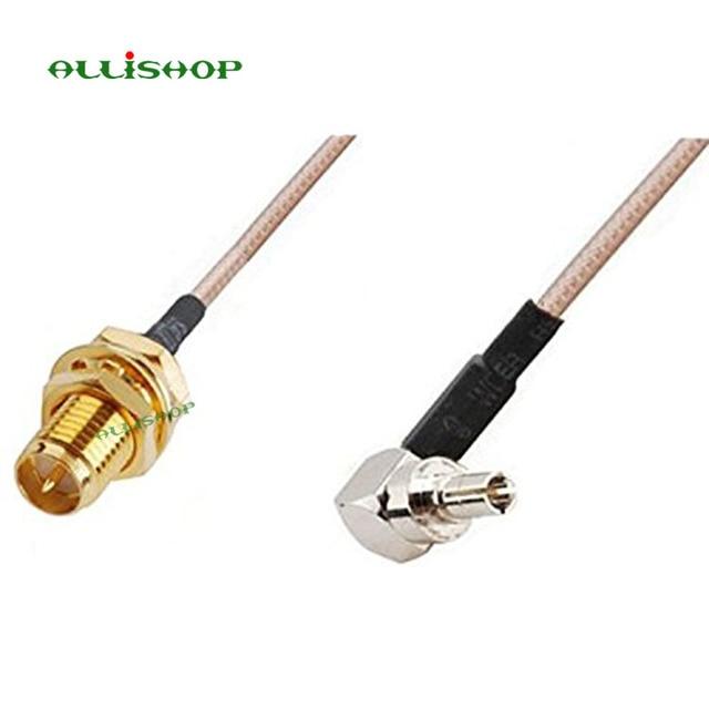 ALLiSHOP w wieku 0-6 GHz RP sma kobieta broszki złącze wtykowe do crc9 adapter pigtail RG316 kabel do Huawei PCI router Wi-Fi 3G Modem