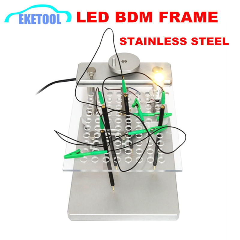 Professional ECU Tool LED BDM FRAME With 4pcs Probe Mesh Assistant Aluminum Alloy Stand Works BDM100