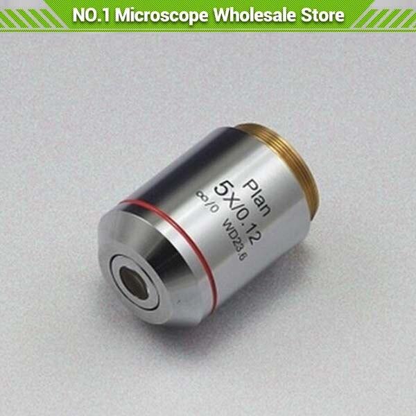 5X objectif de Plan infini pour Microscope métallurgique infini système optique corrigé infini EMS livraison gratuite