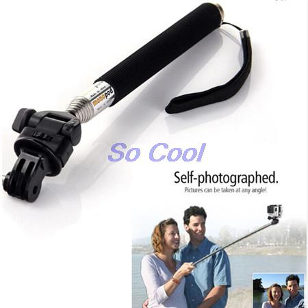 CENINE Extendable Selfie Stick Handheld Palo Perche Selfies Monopod Self For Gopro Hero 5 4 3 Xiaomi Yi Sjcam Sj4000 Accessories