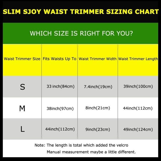 YTFAIFEN Gym Sjoy Waist Trimmer Weight loss Belly Band Sweat More Fat Burning Slim Abdomen Body Shaper  Emagrecimento Wrap Belt 5