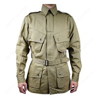 WW2 US Army Military officer m42 AIRBORNE PARATROOPER tops Coats Jacket US/501130