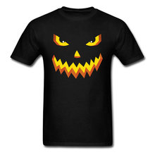 Buyer Nice T-Shirt Halloween Lantern Pumpkin Face T Shirt Yellow Evil Slime Men Mabel Tshirt Hot Sale Round Collar Mazinger(China)