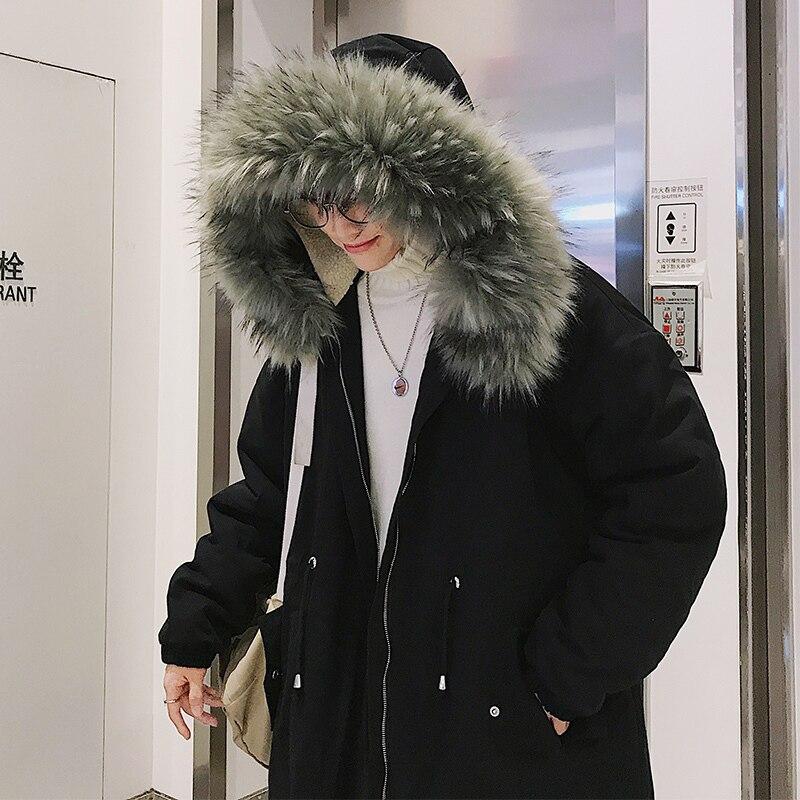 grey Mâle Épais Homme Hommes Vêtements Mode Black vent Lâche Outwear Parka Veste Coupe Chaud Long Hiver Streetwear Casual Green Manteau 3TlKcuFJ51