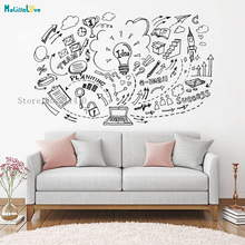 Inspirational Vinyl Wall Sticker Network Technology Company