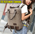 New Canvas Laptop Backpacks Men / male women / female Travel casual shoulder bag 14 - 15.6 inch for Macbook