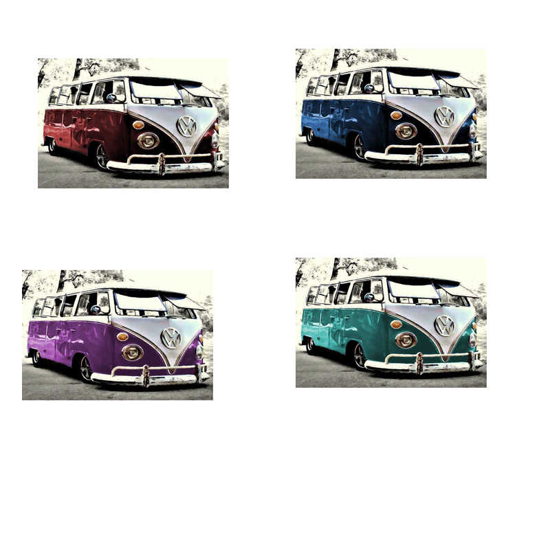DIY Diamond Painting Color VW car  Full Square Mosaic Diamond Embroidery Landscape Pattern Decor  XSH