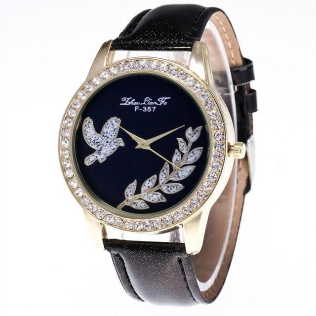 Peace dove pattern Fashion Women Bracelet Watch Candy Color Male And Female Stra