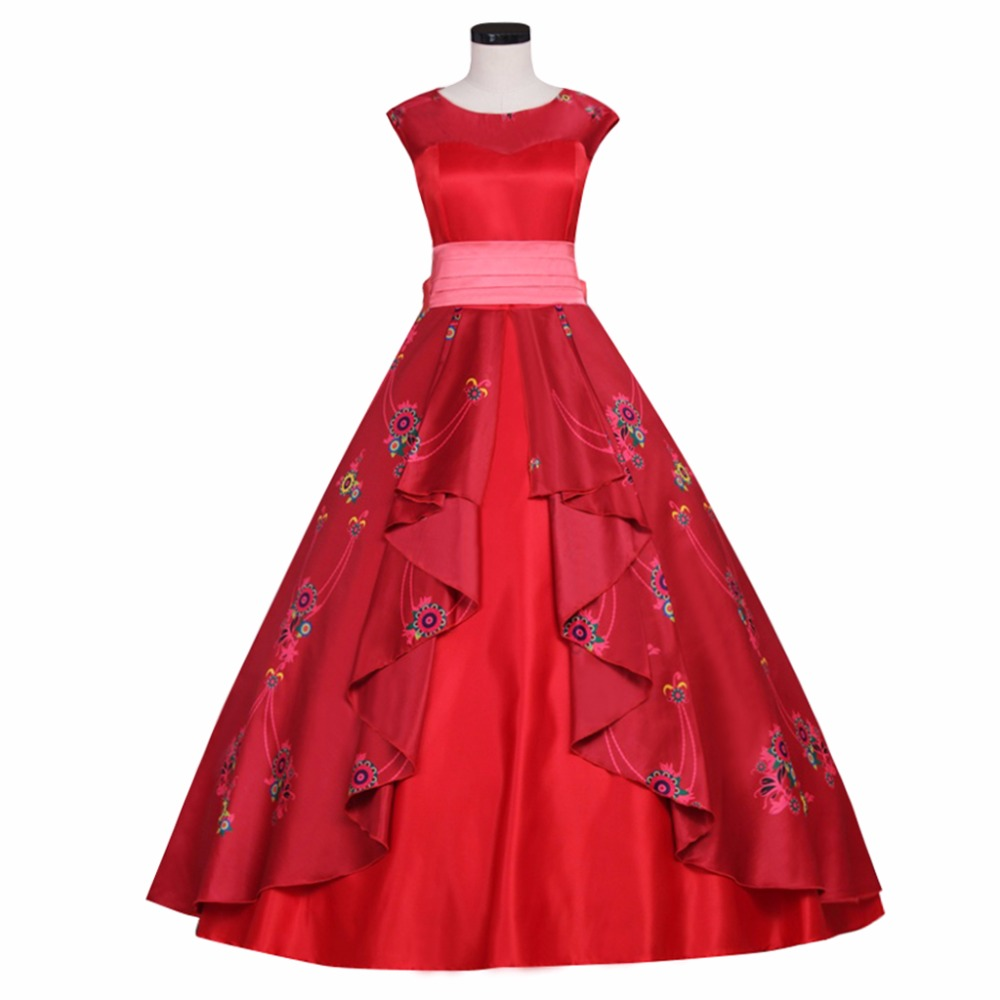 CospalyDiy Women's Dress Elena of Avalor Elena Princess Dress Costume Cospaly for Ball Gown Party