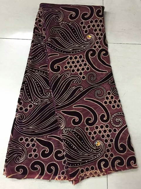 5yardspcssoft and thin best selling african velvet lace fabric in