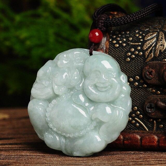 Jade Buddha Pendant genuine jade Buddha Pendant pendant jade Pixiu felicitous wish of making money with certificate