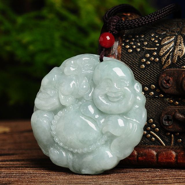 Jade Buddha Pendant genuine jade Buddha Pendant pendant jade Pixiu felicitous wish of making money with certificate