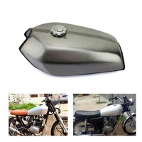 BIKINGBOY Universal 9L Vintage Cafe Racer Gas Fuel Tank Custom 2.4 Gallon for Honda CG 125 250 S CG125 CG250 CG250S Classic Set