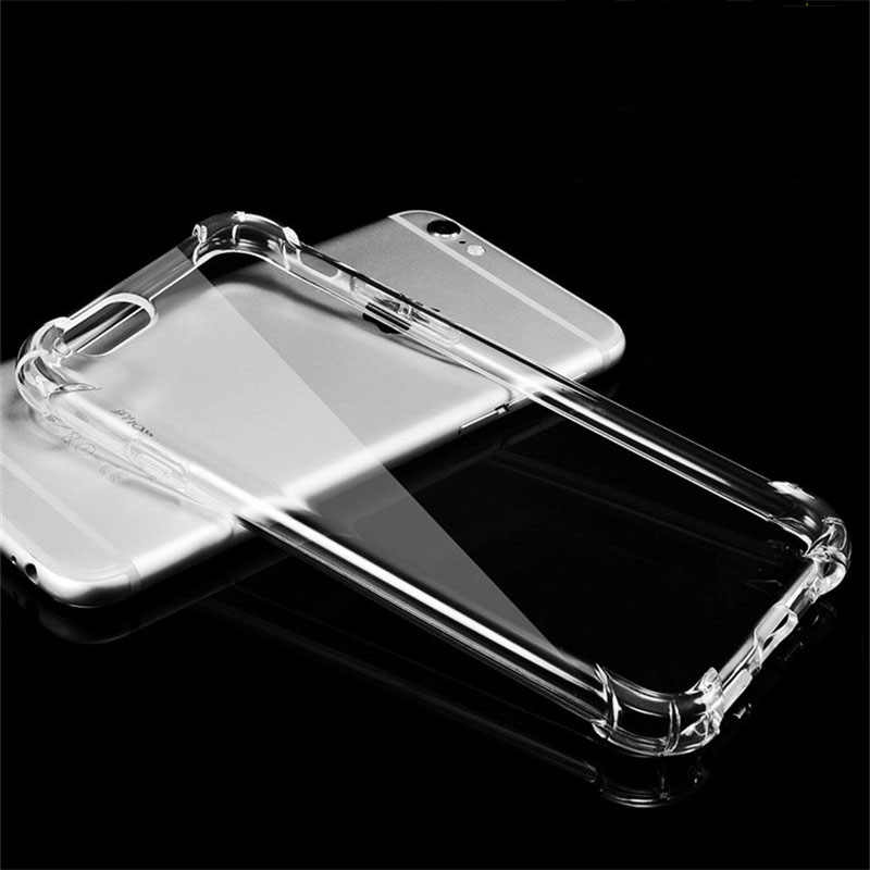 Super Anti-knock Protective Cases For iPhone 6 6S Case Cover Clear Soft TPU Silicone for iPhone X 7 8 Plus 5 5S SE Back Case