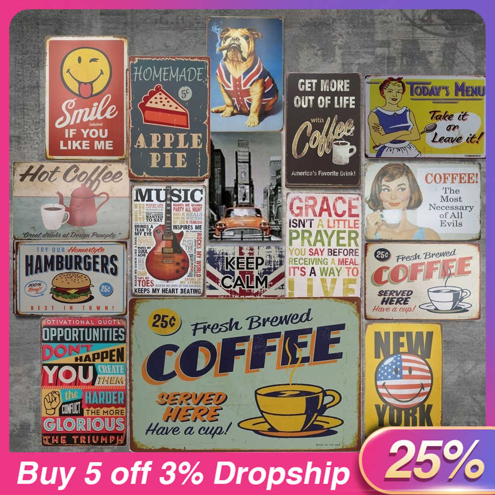 Vintage Metal Tin Sign Painting Poster Vintage Wall Art Sticker Plaque Bar Pub Club Cafe Home Garage Casino Plate Wall Decor