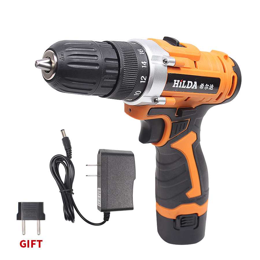 цена на 12V Electric Drill Power Tools Electric Screwdriver Lithium Battery Rechargeable Parafusadeira Furadeira Cordless