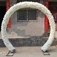 Новое поступление Свадебные центральные арки цветок с железной наборы фото рамок для вечерние события Opening Ceremony праздничные поставки