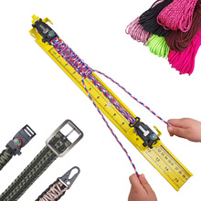 "Paracord jig 2"" to 47"" Adjustable Aluminum Weaving DIY Craft Tool Kit 2019 New Designed Outdoor 550 Paracord Bracelet Maker"