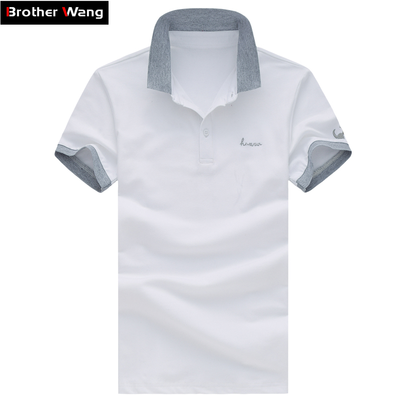 Summer Men s Leisure Business POLO Shirt Fashion Lapel Male Short sleeved Polo Shirt Solid Color