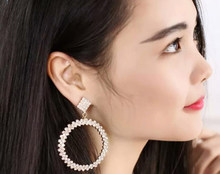 DollyBling New Fashion Exaggerated Long Ring Earrings Female Ear Ring Earrings Jewelry Temperament(China)